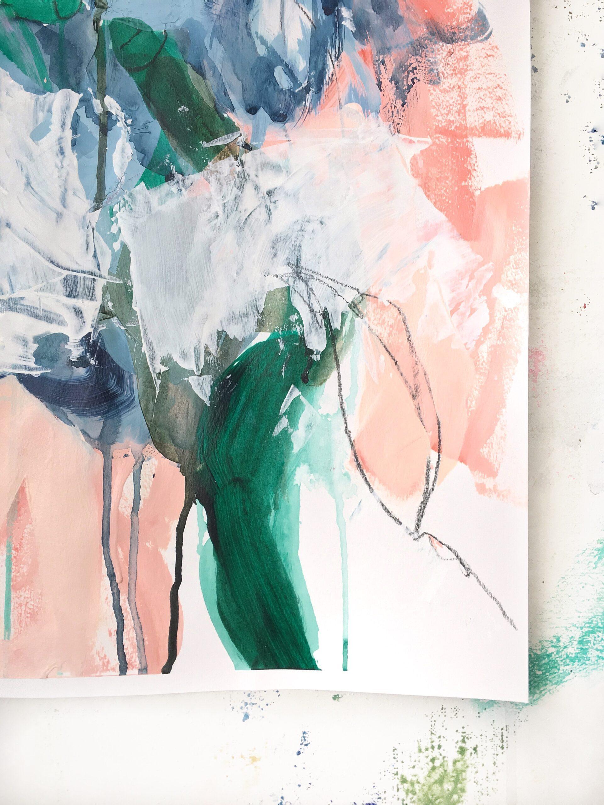 Spring Study III elisa gomez artist color painting painter dwell art