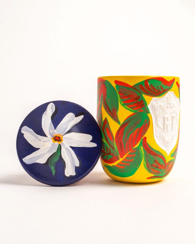 Voutsa x Regime des Fleurs Artefact Hand-Painted Candle Voutsa fragrance inhale in the pursuit