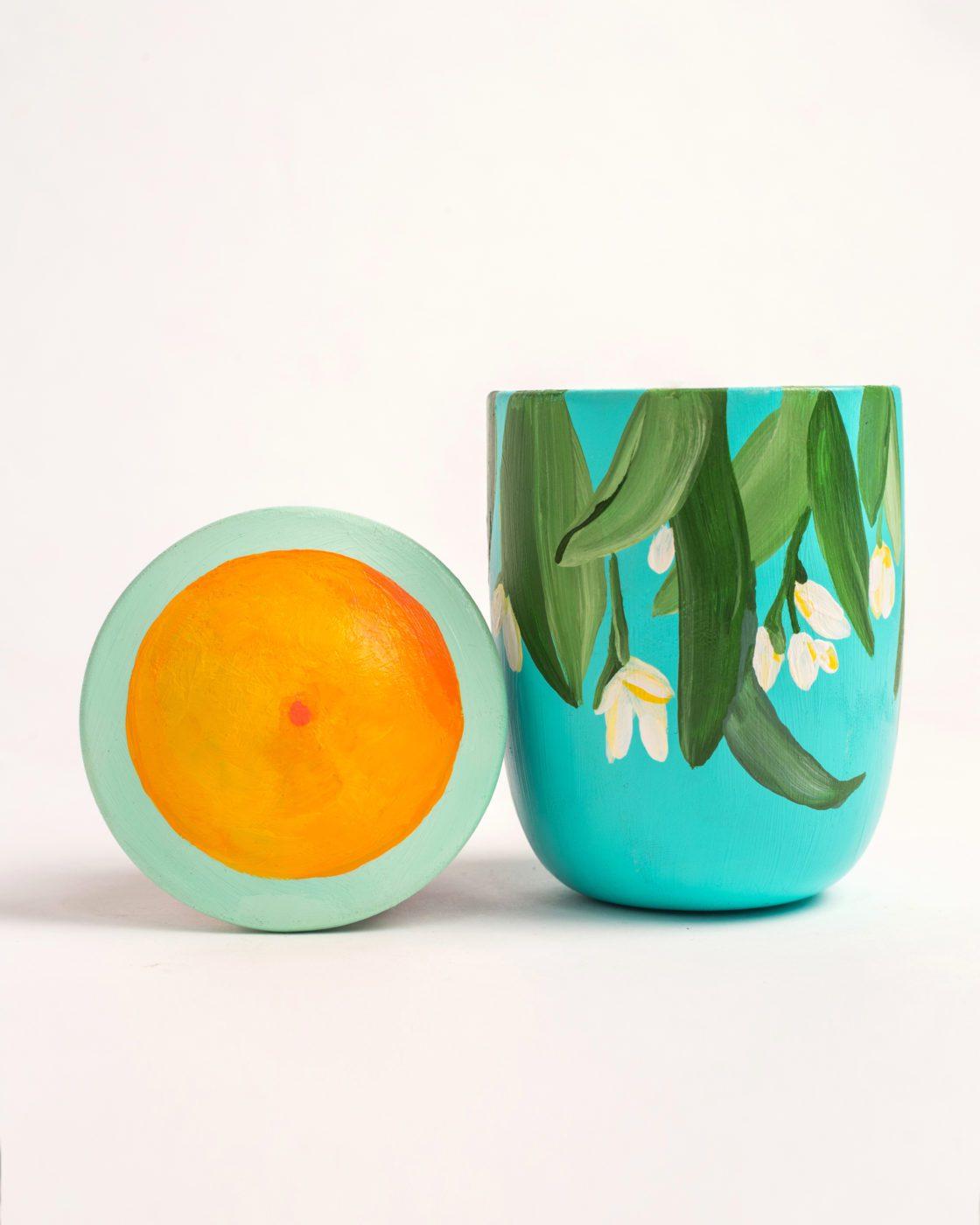 Voutsa x Regime des Fleurs Artefact Hand-Painted Candle Thaleia scent fragrance in the pursuit