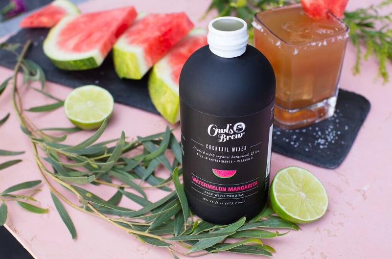 Owl's Brew Watermelon Margarita In The Pursuit Craft Cocktails Tea Mixer