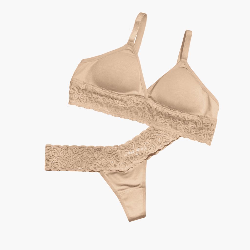 The Ann Set intimates white rabbit bra underwear fashion wear in the pursuit