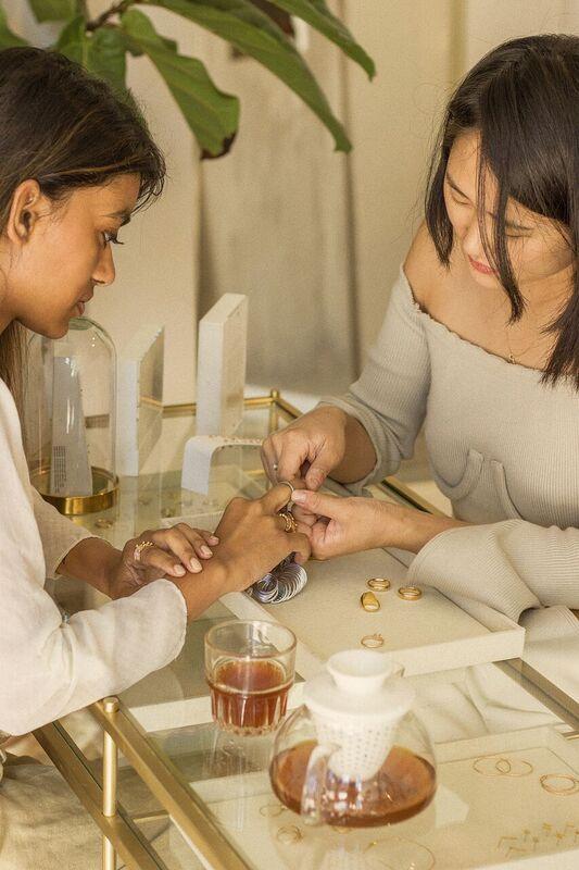 Alessandra Choker haati chai jewelry fashion wear los angeles in the pursuit