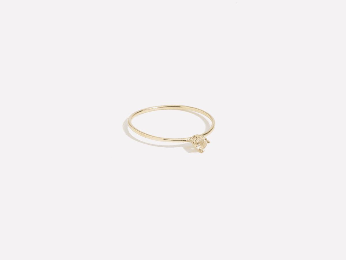 Aieta Ring Morganite amarilo jewelry wear fashion in the pursuit