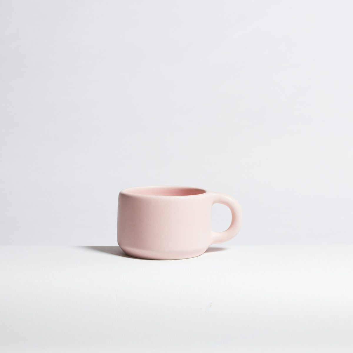 Blush cappuccino cup mug handmade felt and fat in the pursuit