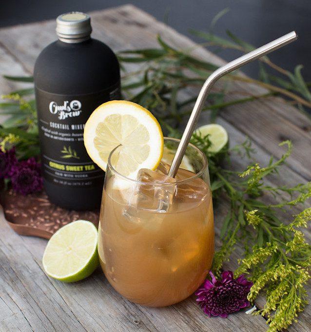 Owls Brew tea mixer citrus sweet tea in the pursuit